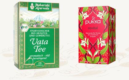 Ayurveda Tees Vata und Pukka